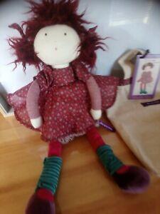 Peluche doudou poupée chiffon Jeanne Les coquettes sac Moulin Roty neuf