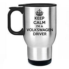 KEEP CALM I'M A VOLKSWAGEN DRIVER ACCIAIO INOX TERMICHE TAZZA DA VIAGGIO AUTO VW