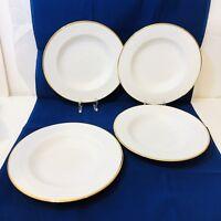 """Set oF 4 PIER 1 Gold Line Rimmed Soup Bowls Pasta Bowls  9 1/4""""  Beautiful"""