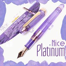 Japan Platinum #3776 Century S.E Nice Lavender Rose Gold 14K nib Fountain Pen