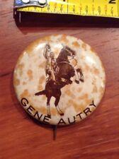 Gene Autry Cowboy Horse Pin Back Button Western pinback spotting