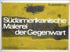 "Ausstellungs Künster Plakat ""Südamerikanische Malerei"" 1965 Nürnberg 60er Jahre"