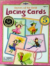 eeBoo LACING CARDS -FAIRIES OF THE FIELD- Children Craft Activity