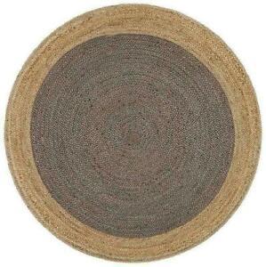 Rug 100% Natural Jute Braided Style Reversible Rug Modern Rustic Look Area Rugs