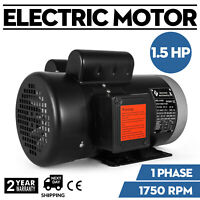 """141556C Electric Motor 1.5HP 1Phase 1750RPM 5/8""""shaft Flange Enclosed TEFC"""