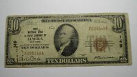 $10 1929 Elmira New York NY National Currency Bank Note Bill! Charter #149 RARE