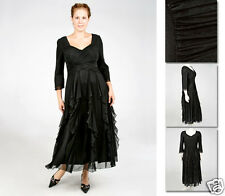 NEW Zaftique ENCHANTED GALA DRESS Black 0Z 14 16 20 28 32 36 L XL 1X 2X 4X 5X 6X