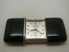 Vintage swiss made Movado 15J 935 silver shell black enamel men's watch 1920's