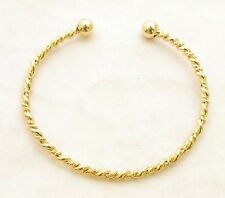 Medieval Bracelet Twisted Torc, 22ct Gold Plated