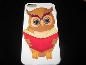 Owl Reading Book Hard Cover Case for iPhone 5 New Owl Glasses Book New Case