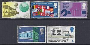 GB 1969 QEII ANNIVERSARIES SET OF 5 FINE MINT MNH SG791-SG795