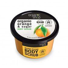 ORGANIC SHOP Natural Sicilian Orange & Sugar Body Scrub 250ml 8.5 fl oz