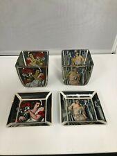 Goebel ARTIS ORBIS Art Deco 4 set piece- Tea Light Holder & Trinket Dish(SG138G)