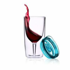 TraVino Spillproof Wine Sippy Cup - Blue travel wine glass