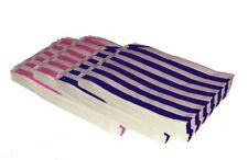 More details for candy stripe paper sweet gift party bags 10 x14