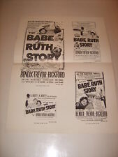 THE BABE RUTH STORY 1948 ORIGINAL WARNER BROS MOVIE PRESSBOOK (468)