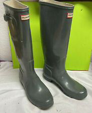 super nice HUNTER rubber tall rain boots 10M mens / 11F womens unisex