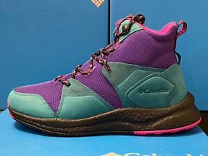 Columbia Sh/ft Outdry Green Purple BM0843-512 WATERPROOF Boots Winter Hiking NEW