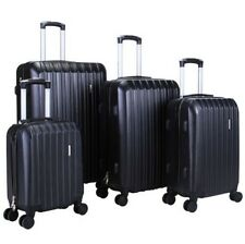4 Pcs Luggage Travel Set Bag ABS Trolley Spinner Carry On Suitcase w/ Lock Black