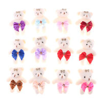 2Pcs Mini weichen Plüsch Bären Baumwolle kleine Bär Puppe Spielzeug für Kinder X