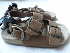 Leather New chocolate brown buckle sandals size 11 infant