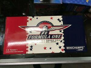 1/18 Minichamps 2000 United States GP EVENT CAR Formula One F1 Indianapolis