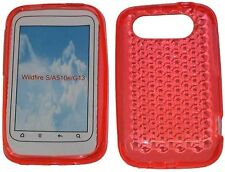 Pattern Soft Gel Jelly Case Protector Cover For HTC Wildfire S A510e G13 Orange