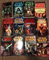 Lot of 12 Twelve Star Wars Paperback Books - Luke Skywalker, Darth Vader