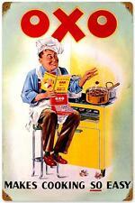 Retro Vintage OXO Cookware Kitchen Utensils Metal Sign Advertisement Decor 279