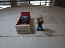 Popeye Keepsake Ornament Christmas spinach the Sailor man NOS QX5257 1994 RARE