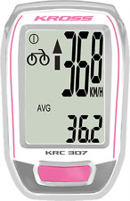 NEW KROSS KRC 307 bicycle counter,Rider Computer For Bicycles, PINK/WHITE