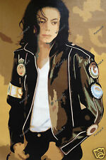Michael Jackson Oil Painting Pop Art Portrait Hand-Painted Canvas NOT a Print #6