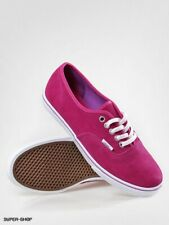 Vans Off The Wall Shoes Authentic Lo Pro Uk Size 8.5 Suede Bright Rose /...