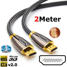 2M Long Premium HDMI Cable High Speed Video Lead For PS3 HDTV DVD Smart TV 3D