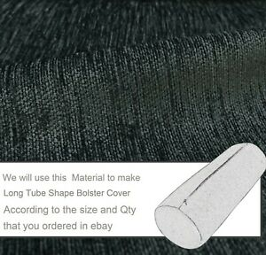 Wn21 Dark Gray Chenille Sofa Seat Patio Bench Box Cushion Bolster Cover/Runner