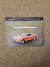 Vintage FIAT 124 Sport Coupe Spider Station Wagon Dealer Brochure Literature