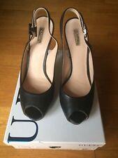"""Scarpe donna firmate """"Gues"""" nere In vera pelle modello sandalo elegante mis.41"""