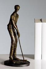 Wohn Accessoires DekoArt Kunstobjekt Golfer bronce H 31cm x B 13cm %