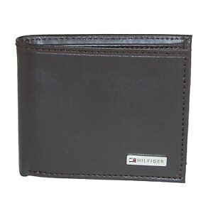 Tommy Hilfiger Mens Leather Credit Card Id Organizer Coin Rfid Wallet 31Tl130049