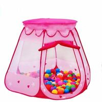 Kids Toys Princess Play Tent Girls Balls Pit Gifts Pink Portable for 1-8 Years