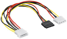 0.3m 4 Pin IDE Molex to SATA HDD Power Adapter Cable Male Female Extension 5.25