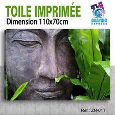 110x70cm - TOILE IMPRIMÉE TABLEAU DECO-ZEN AMBIANCE DETENTE BUDDHA RELAX-ZN-01