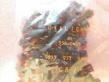5x  DIALIGHT 550-0405 , LED 5mm Uni-Color RED  635nm 2-Pin T-1 3/4  R.A. T.H.