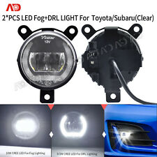 For Subaru Forester Impreza WRX STI Led FOG Light Daytime Runing Lamp Clear 2X