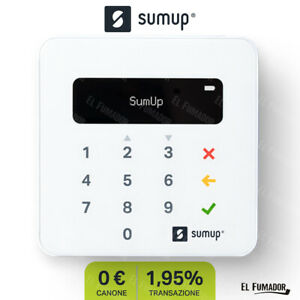 SumUp Air Lettore carte di credito. POS mobile contactless NFC, Bluetooth, Wi-Fi