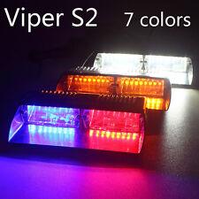 Car 16 LED Police Strobe Flash Light Dash Emergency Flashing Light Red/Blue