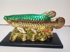 Feng Shui- Golden/Green Koi fish