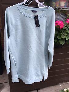 M & S Size 16  Longer Length Soft Fleece Lined Sweat Shirt Style Top BNWT