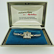 Vintage Hamilton 769 Swiss 17j 14k Solid White Gold Watch with Original Box