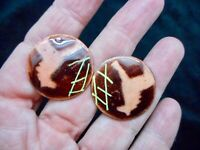 Authentic Vintage 1950's Abstract Modernist Enamel Men's Cufflinks